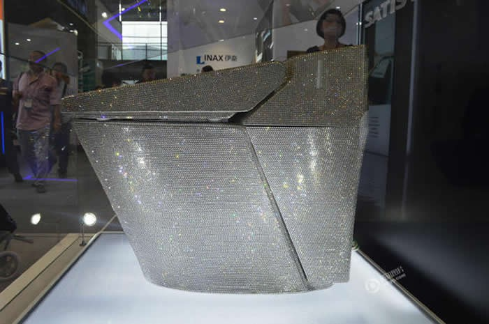 Toilet Studded With 72,000 Swarovski Crystals Dazzles In China